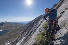 Rock Climbing Photo: Matt gearing up to lead the second pitch. This was...