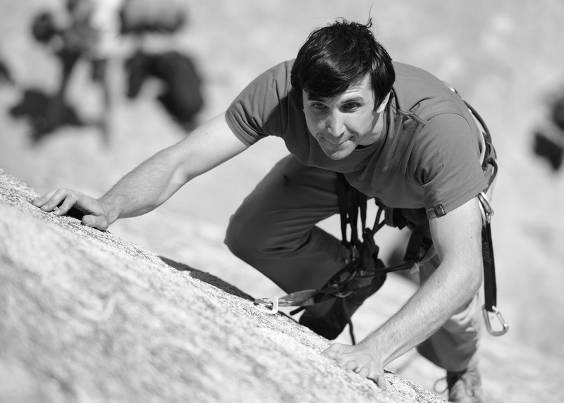 Rock Climbing Photo: Ben Smoot leading There's Friction Afoot