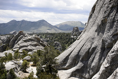 Rock Climbing Photo: Looking towards the rest of the Lost World while a...