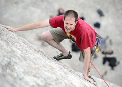 Rock Climbing Photo: Colin Bagley contemplating his next hand on There'...