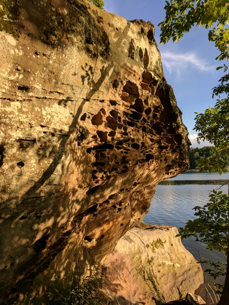 Rock Climbing Photo: The Roost: Located on the right of The Altar Bould...