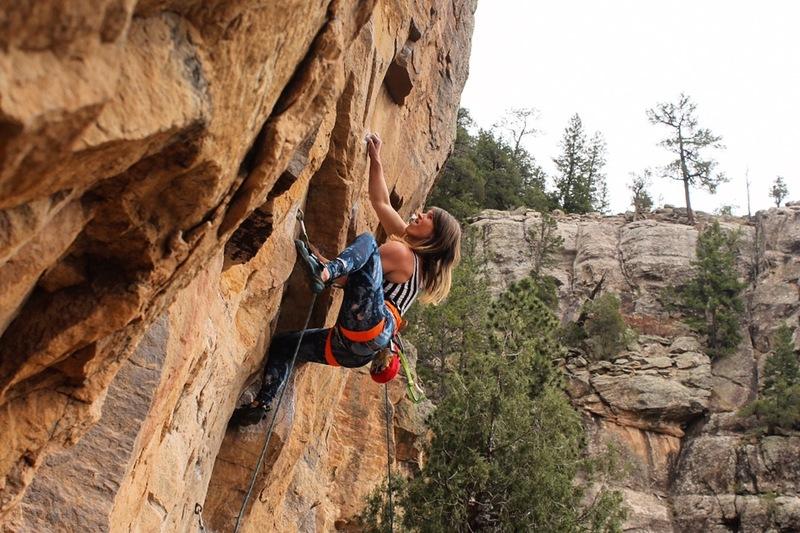 Rock Climbing Photo: Lindsey Hamm goes hamm on Chingadero.