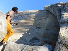 Rock Climbing Photo: Belaying at the base of the route.