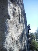 Rock Climbing Photo: Pitch 1 of Arch Bitch-Up. A thoughtful traverse.
