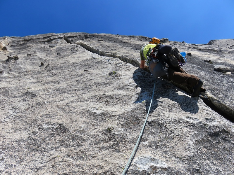 Starting up the offwidth of Pitch 2.