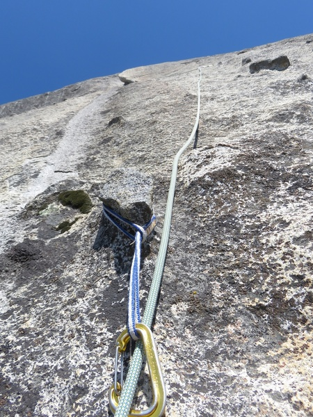 A chicken-head tie off at the start of Pitch 3.