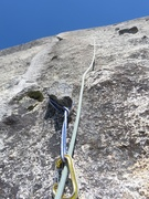 Rock Climbing Photo: A chicken-head tie off at the start of Pitch 3.
