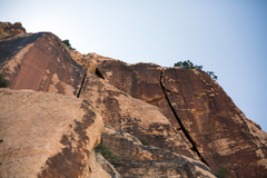 Rock Climbing Photo: Wise Guys Off Size on the Right.