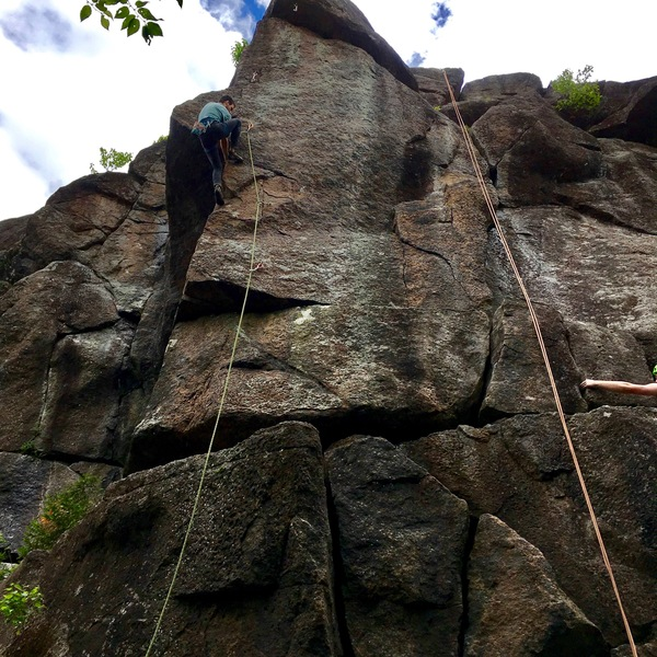 Rock Climbing Photo: Pulling the crux!