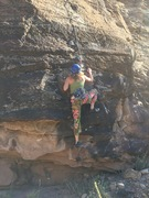 Rock Climbing Photo: A Swiss girl on Desolation Row
