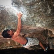 Rock Climbing Photo: Thanh doing laps on Bunion Blow.