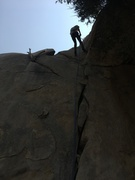 Rock Climbing Photo: Rappelling down after setting up top rope