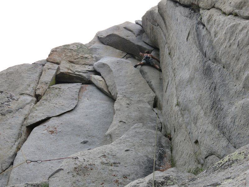 Climber on Pitch 1 of Carne y Papas. 10c.
