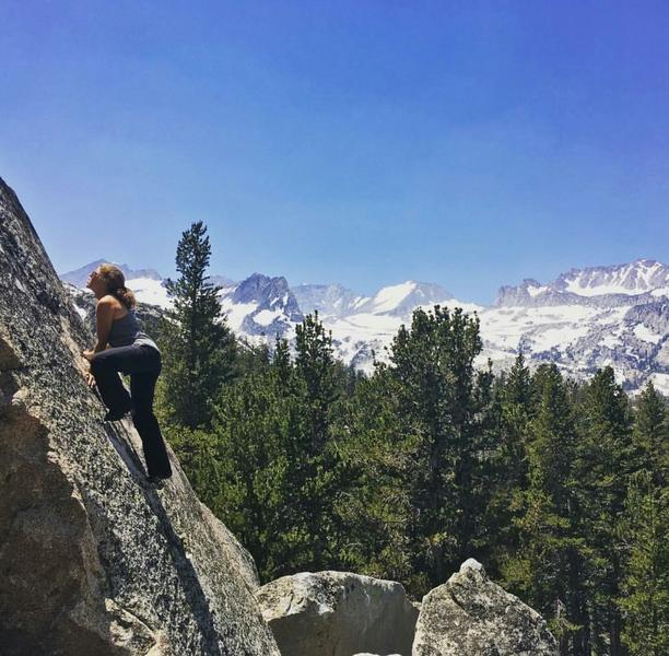 Rock Climbing Photo: Indigo enjoying some slab time!