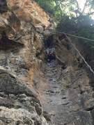 Rock Climbing Photo: Heading up the tube!