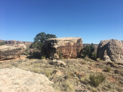 Rock Climbing Photo: The southwest side of Kalty Block. This is what yo...