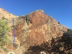Rock Climbing Photo: Beta for Douching the Head.