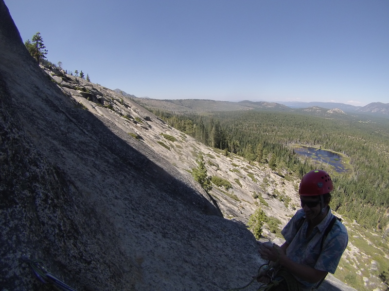 View from anchors at the top of pitch 2.