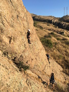 Rock Climbing Photo: Ally just passed the crux