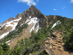 Rock Climbing Photo: Where the trail meets the ridge