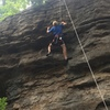 Gavin's (12) first time climbing Dirty Persian.