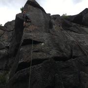 Rock Climbing Photo: Eric Laflamme sending Pied de Nez
