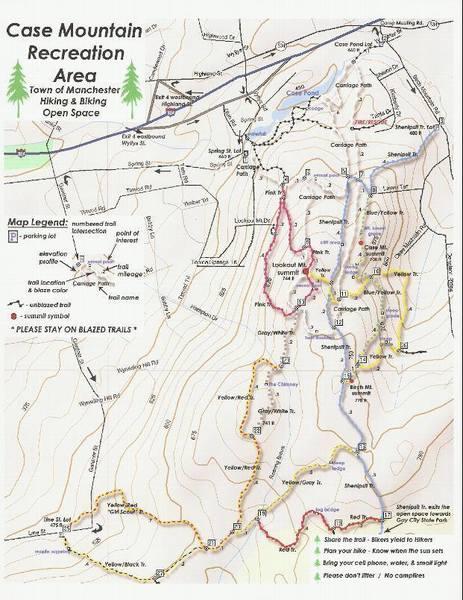 Case mountain trail map.