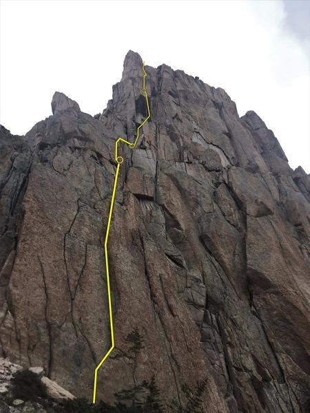 Rock Climbing Photo: Bottom to top.