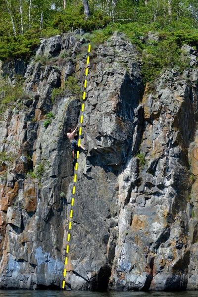 Rock Climbing Photo: A. Klopp on not a clue