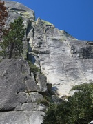 Rock Climbing Photo: The original line goes up the left crack system wh...