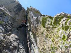 Rock Climbing Photo: Pitch 3.