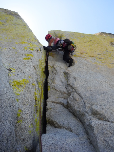 Rock Climbing Photo: Second half of Pitch 4.