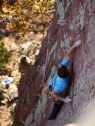 Rock Climbing Photo: Peter on the sharp end, October 2015.  Katie's pho...
