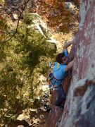 Rock Climbing Photo: Peter Bonamici on the first lead, October 2015.  K...
