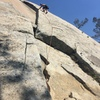Climbing Easy Rider... kinda chossy mostly fun.