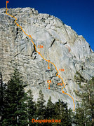 Rock Climbing Photo: Despairadoes, on the east face of the Silver Turre...