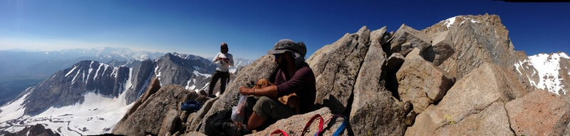 Rock Climbing Photo: High on the East Arete!