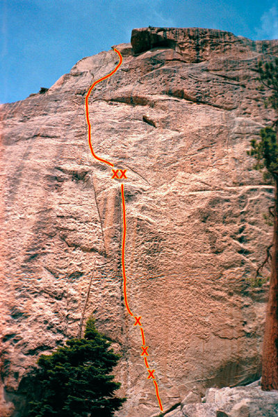 From Afar climbs face and cracks up the perfect orange patina granite on the south face of the Cobra.