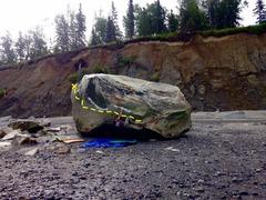 Rock Climbing Photo: Sit start to a rad line. Crescent boulder (I think...