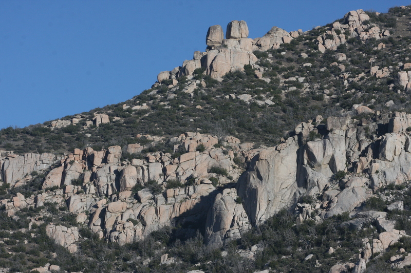 Rock Climbing Photo: Little Big Dome with the obvious arete at the base...