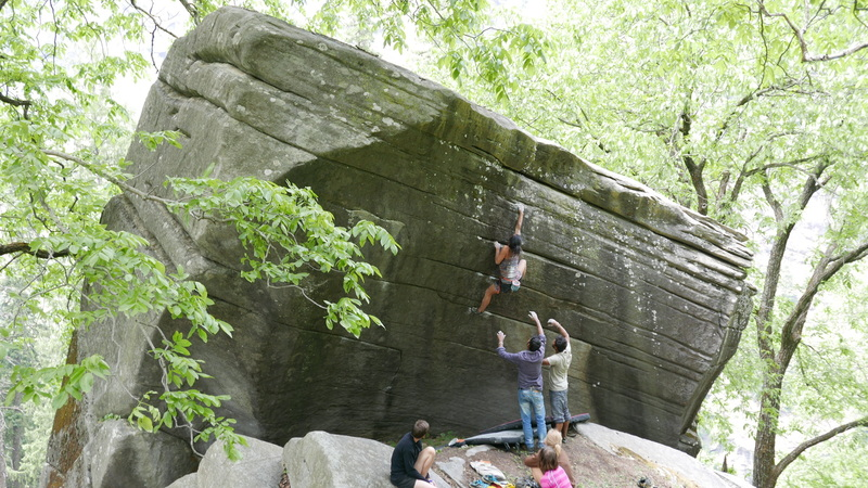 Rock Climbing Photo: First Bite, highball V4 in Sethan, India