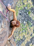 Rock Climbing Photo: Charity Watson pulls the final moves on Brian's Ro...