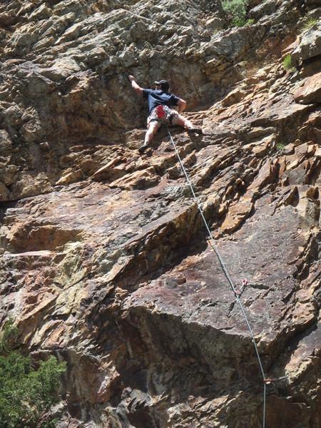Rock Climbing Photo: Eric, Pop Quiz (5.11a)