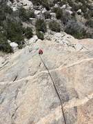 Rock Climbing Photo: Heading up the featured terrain.