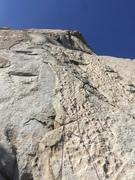 Rock Climbing Photo: Approaching the crux
