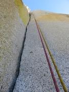 Rock Climbing Photo: Splitter hands on Pitch 1.