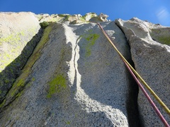 Rock Climbing Photo: Featured face on second half of Pitch 2.