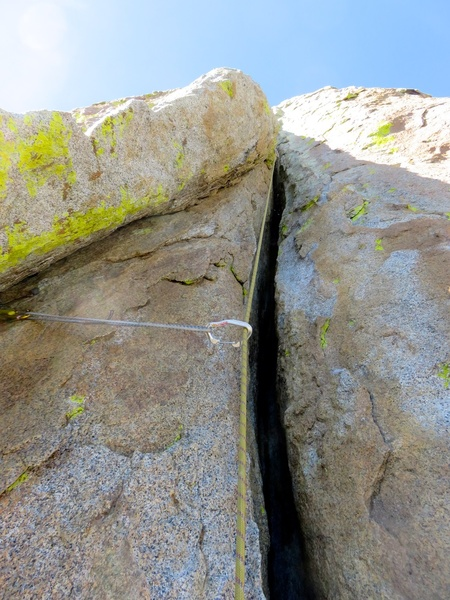Rock Climbing Photo: Wide featured crack climbing (Pitch 7 for us).