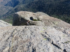 Rock Climbing Photo: To descend from The Warlock, you have to get to th...