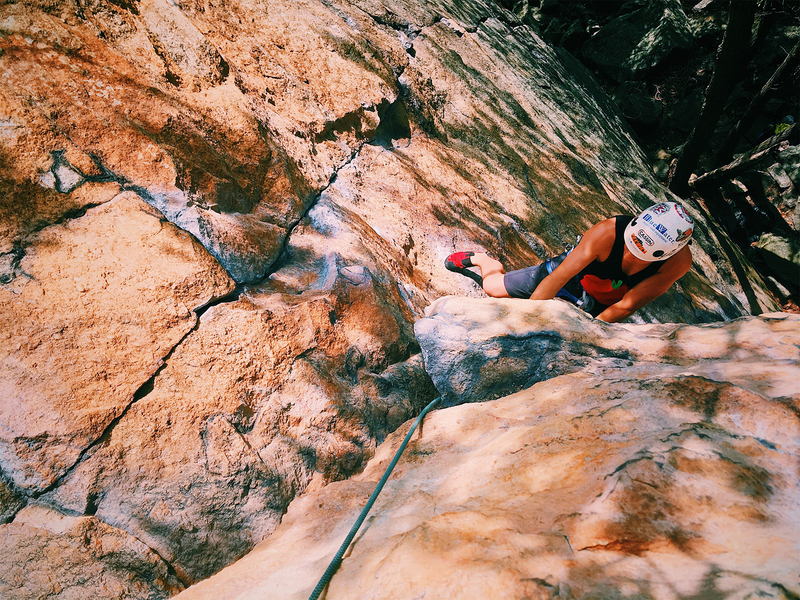 Rock Climbing Photo: Chris Gregory coming up the first pitch of Airy Ar...